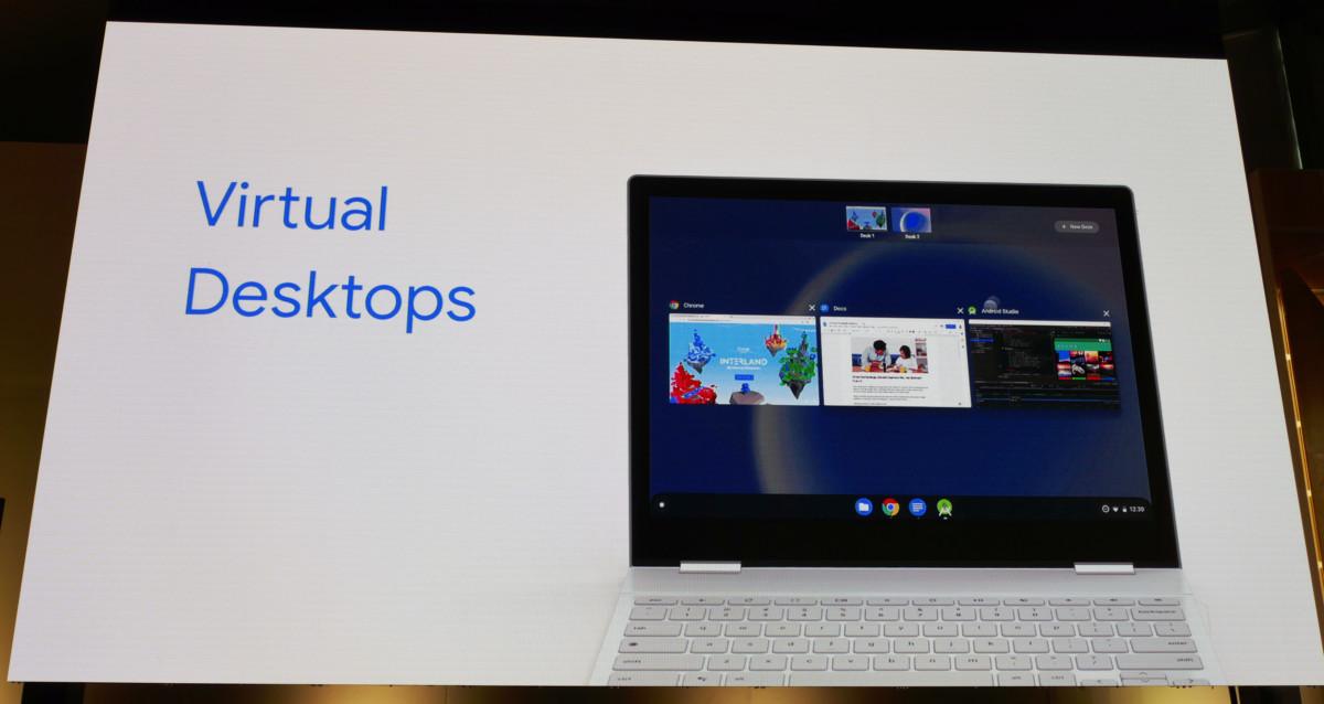 Les bureaux virtuels arriveront sur la version M76 de Chrome OS