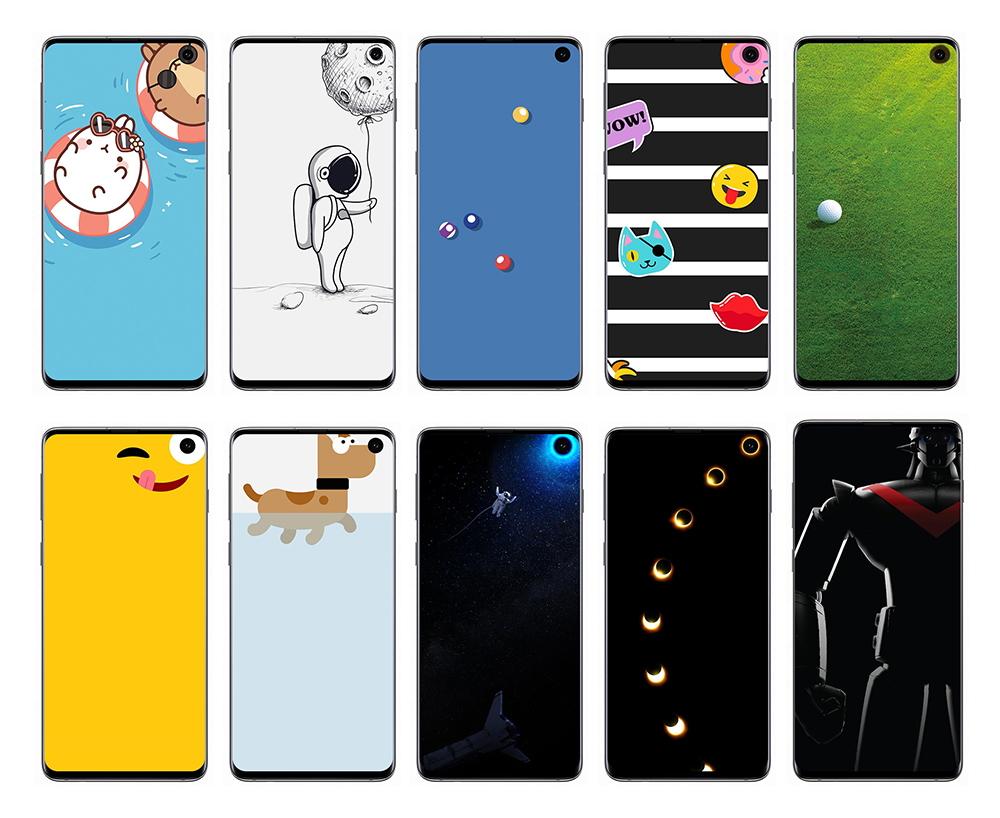 Fonds d'écran : malin, Samsung s'amuse avec l'écran percé du Galaxy S10 grâce à Disney