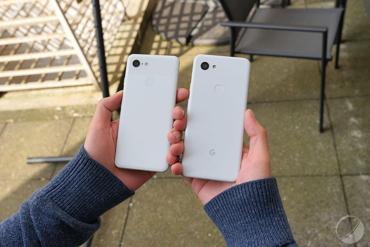 Le Pixel 3 à gauche et le Pixel 3a à droite