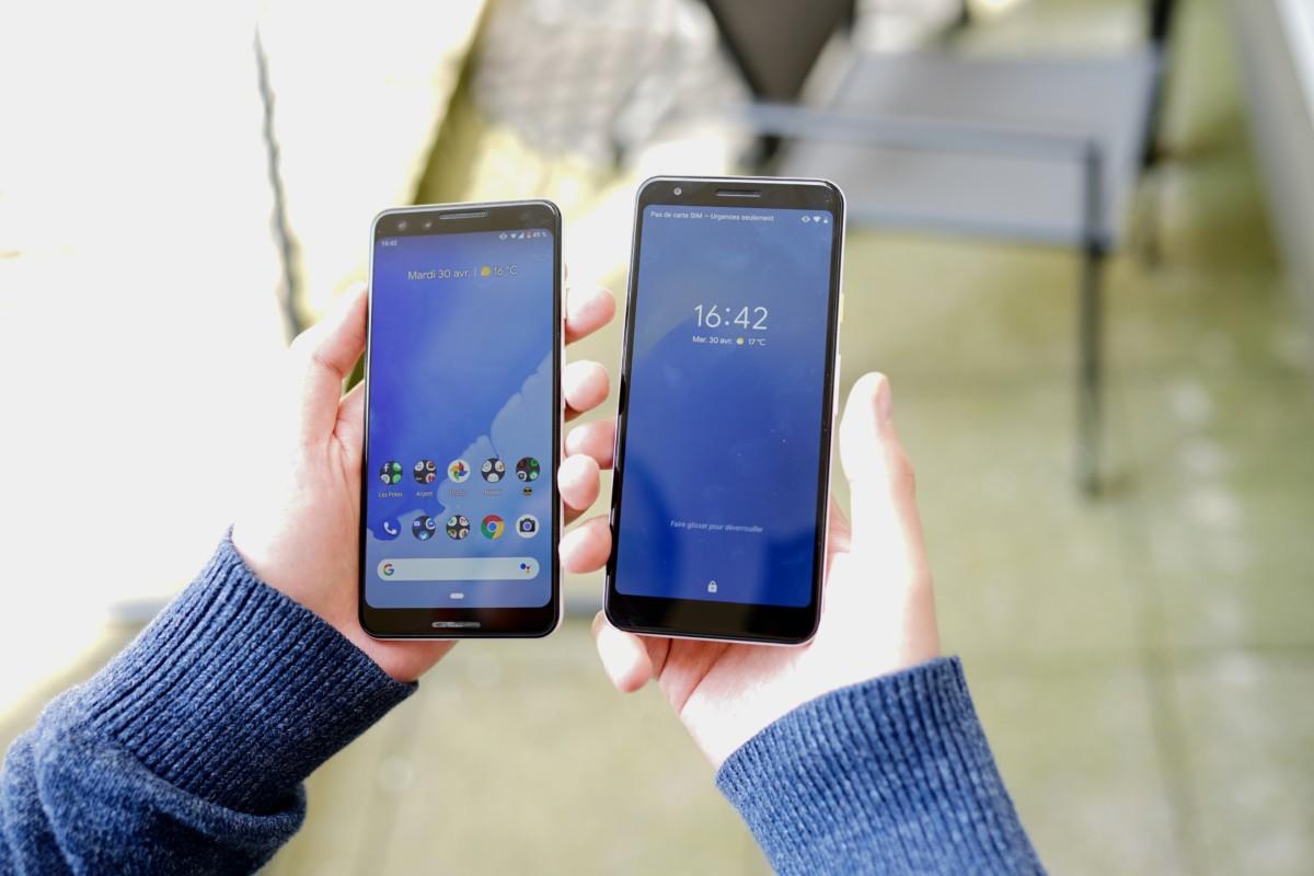 Pixel 3 à gauche, Pixel 3a à droite