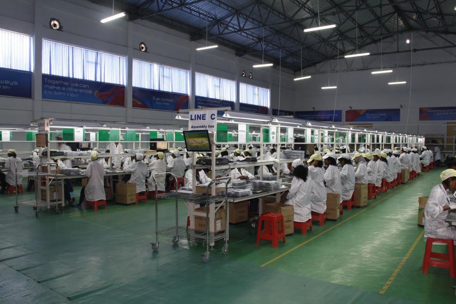 L'usine d'assemblage de Transsion (Tecno, Infinix et Itel) en Éthiopie