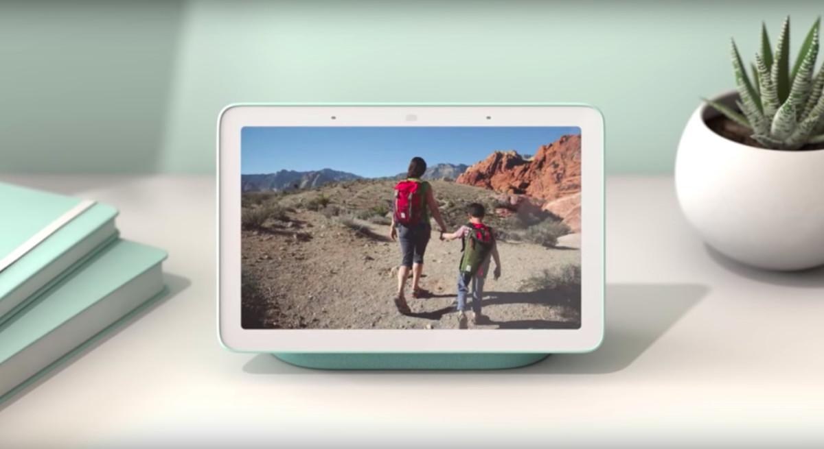 La fonction cadre photo numérique du Google Nest Hub.