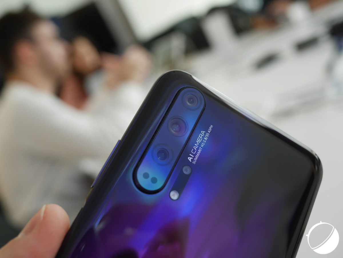 Le quadruple module photo du Honor 20 Pro