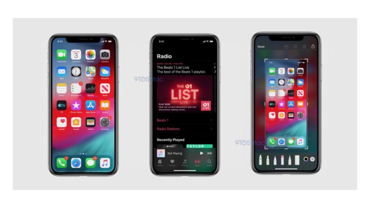 A la WWDC dans une semaine, Apple devrait lever les voiles sur la prochaine fournée iOS… la version iOS 13 qui équipera les iPhone et iPad. 9to5mac  a pu se procurer les premières captures d'écran qui révèlent des nouveautés.
