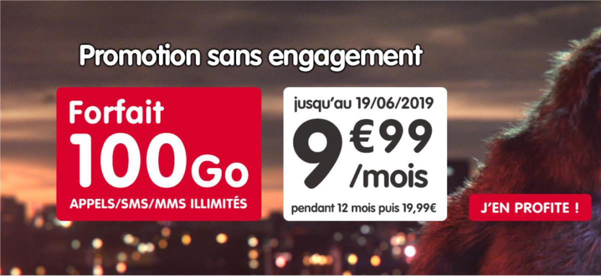 🔥 Bon plan : 100 Go à 9,99 euros par mois pendant 1 an chez NRJ Mobile