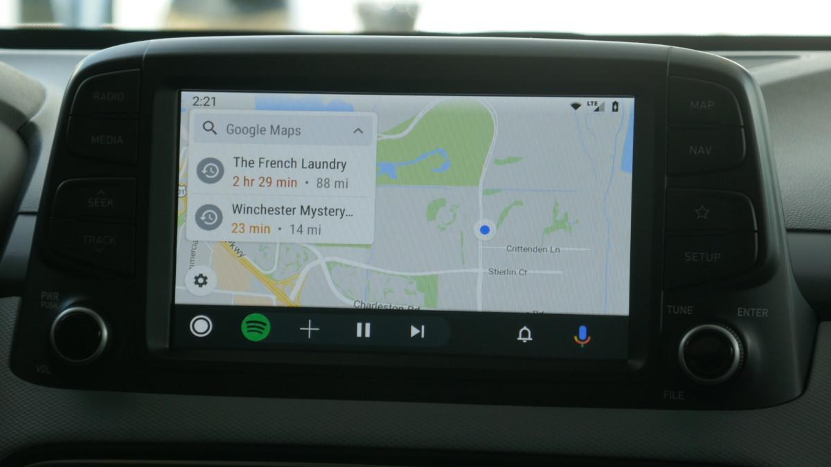 La nouvelle interface d'Android Auto