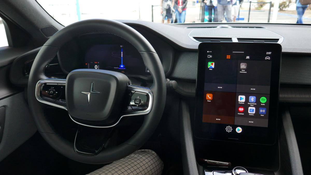 L'habitacle de la Polestar 2 sur Android Automotive