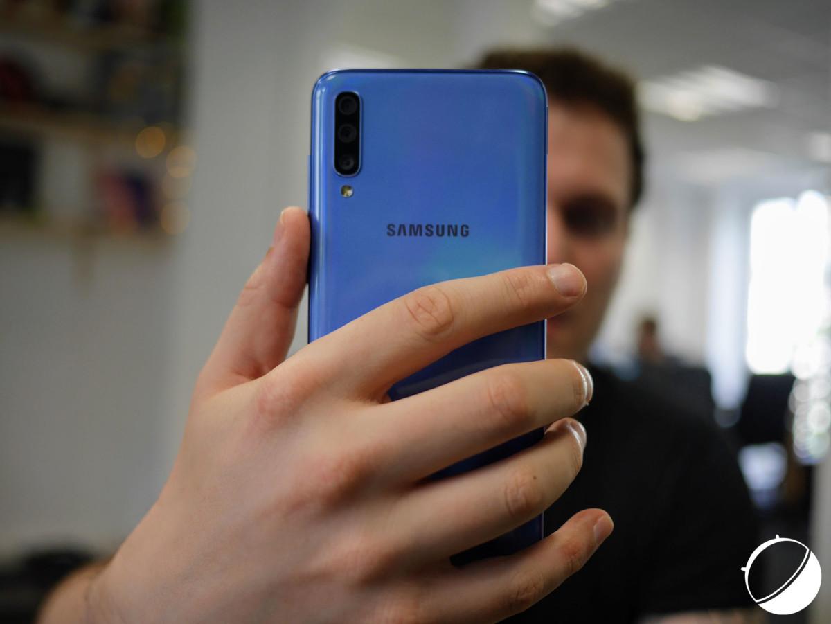 Le Samsung Galaxy A70 actuel, auquel le Galaxy A70s devrait beaucoup ressembler.
