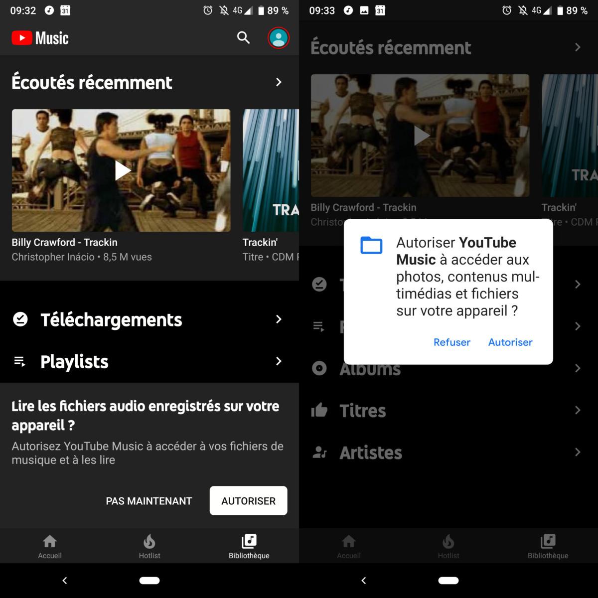 YouTube Music : la lecture de fichiers locaux est disponible, mais avec quelques limites
