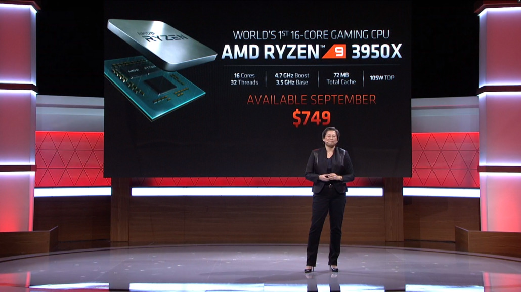 Lisa Su, PDG d'AMD, présente le Ryzen 9 3950X