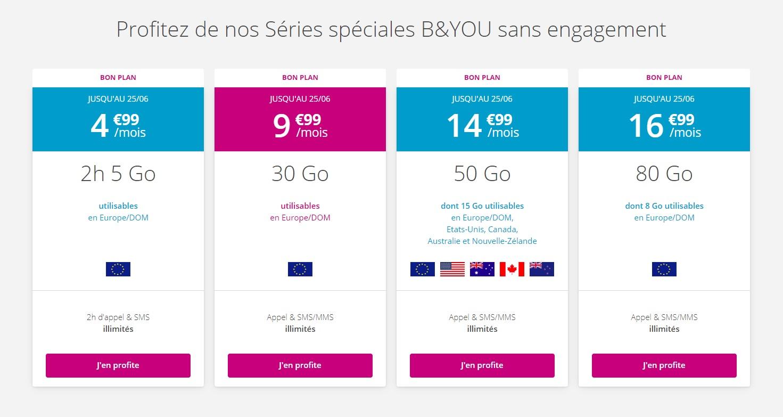 🔥 Bon plan : Bouygues lance 4 nouvelles offres en série limitée à partir de 4,99 euros