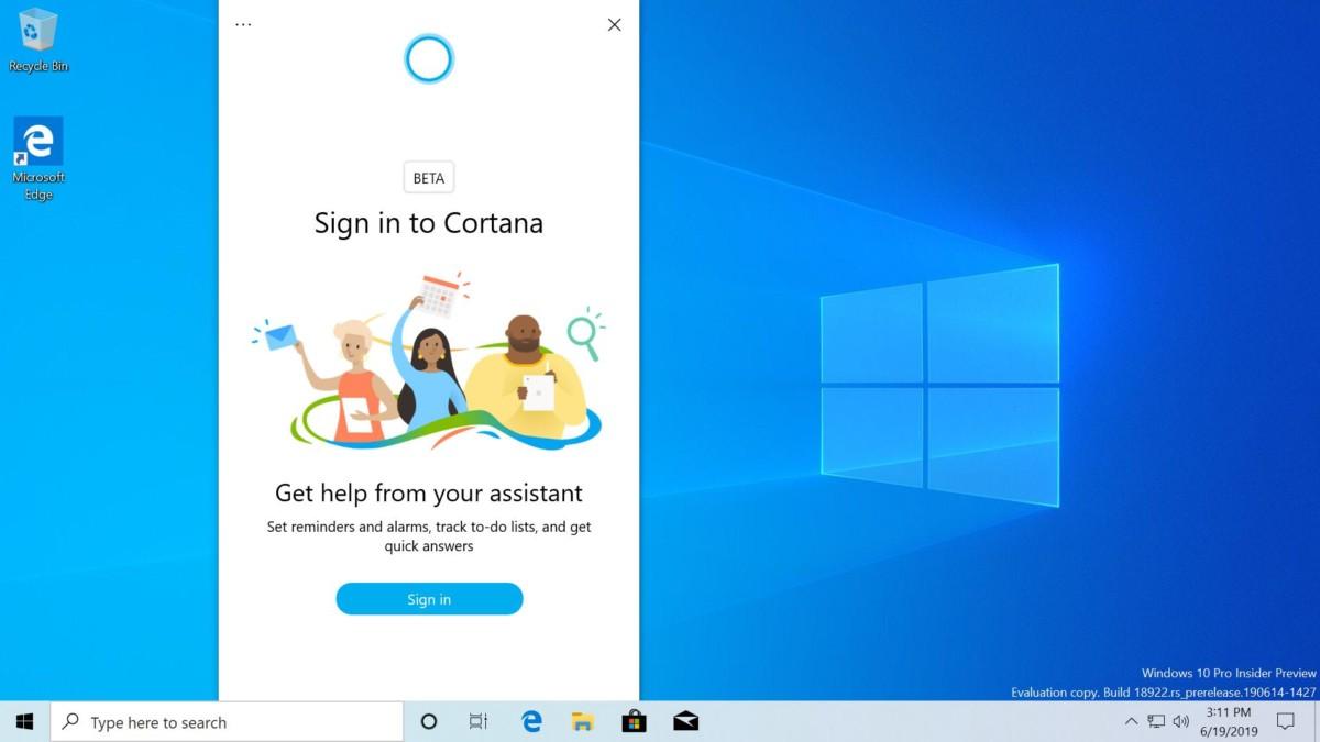 Windows 10 : bientôt une nouvelle interface pour Cortana et des bureaux renommables