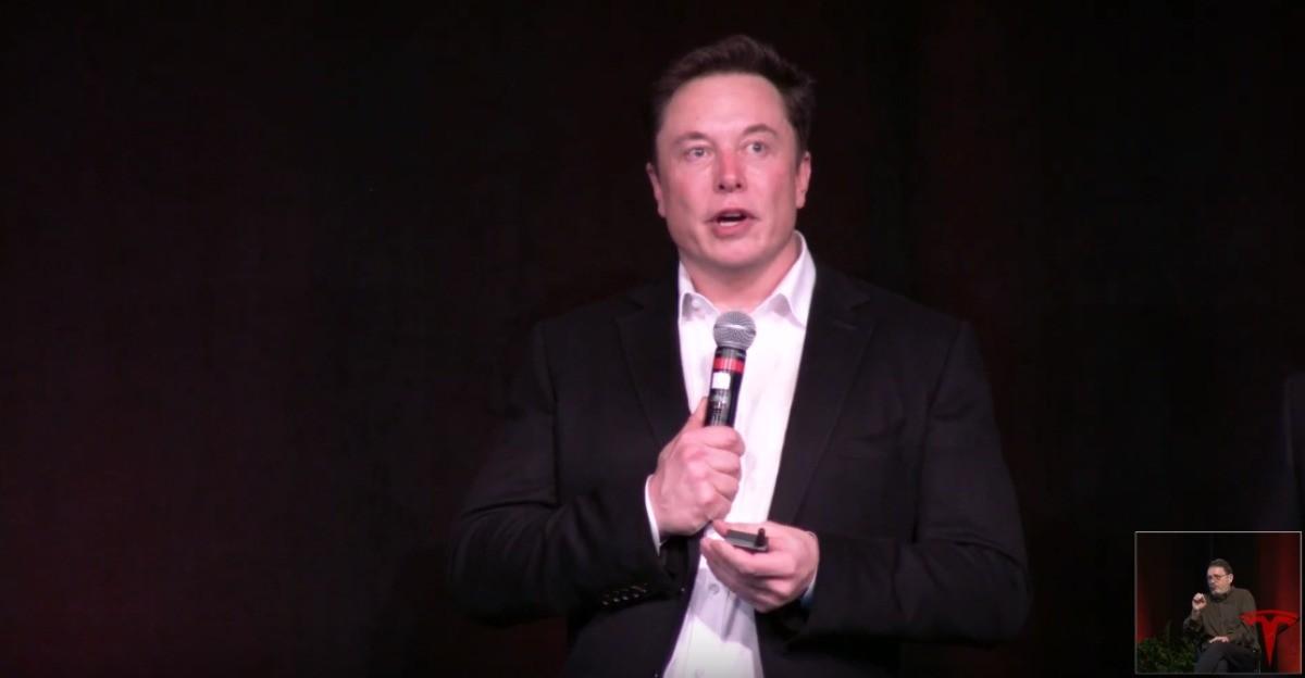 Elon Musk pendant la conférence annuelle pour les actionnaires.