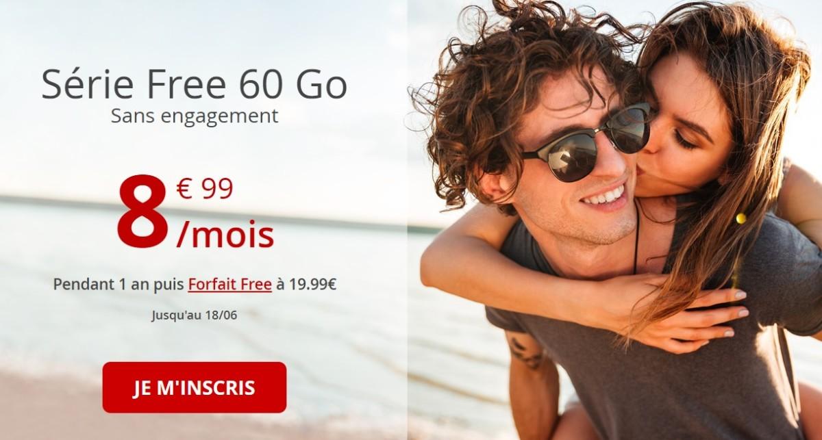 🔥 Bon plan : Free Mobile relance son offre 60 Go à 8,99 euros par mois