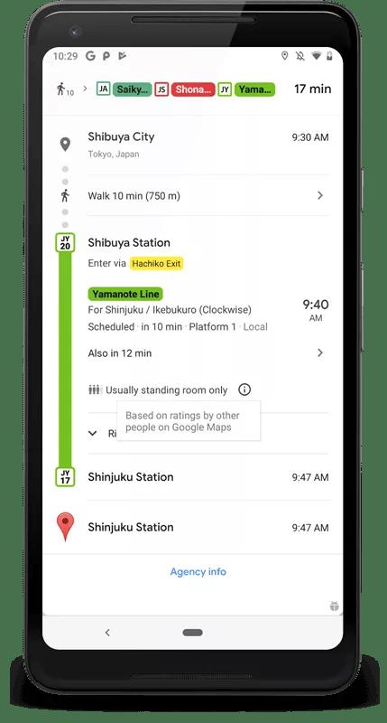Google Maps commence à indiquer aux gens si le métro va être bondé