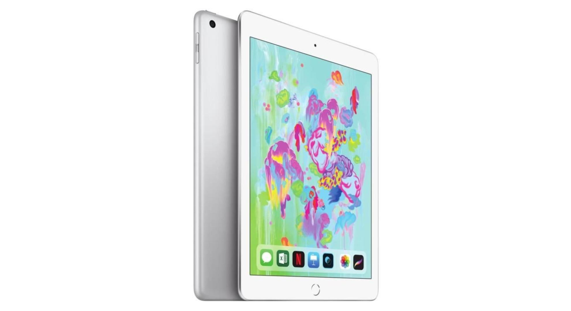 763f8e165003 Commercialisé à 358 euros sur l'Apple Store français, l'Apple iPad 2018 est  aujourd'hui disponible à 299 euros sur Cdiscount grâce aux diverses  promotions ...