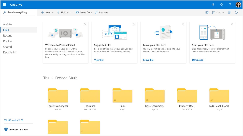 Microsoft change OneDrive : plus de stockage, et un coffre-fort numérique