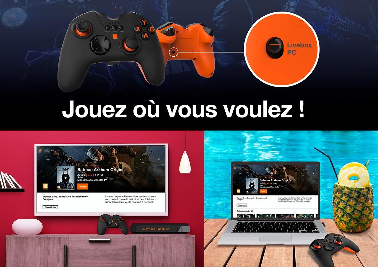 Orange Jeux permet de jouer en streaming depuis une simple Livebox