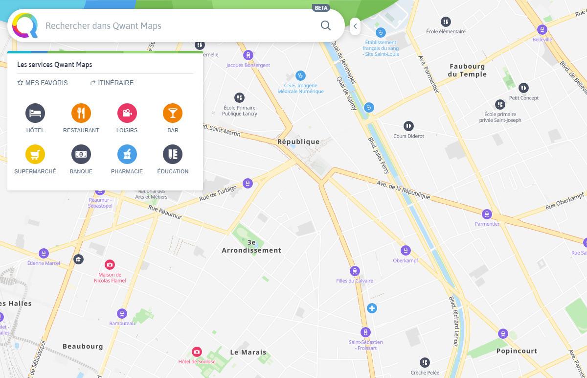 Qwant Maps arrive en bêta pour faire face à Google et protéger vos données personnelles