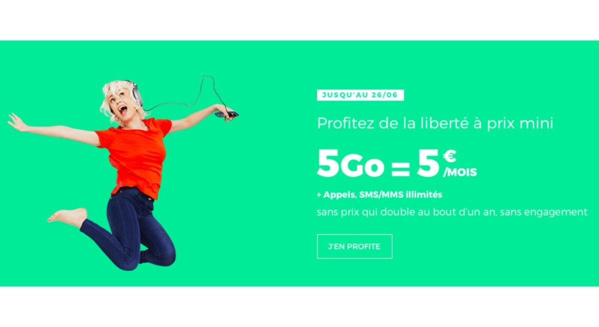 SFR RED lance un forfait 5 Go avec appels illimités pour 5 euros par mois