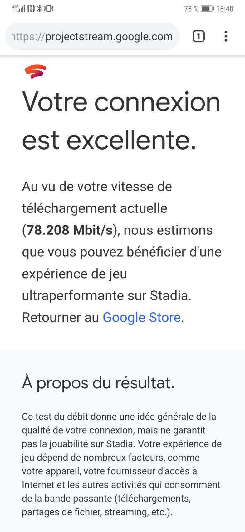 Google Stadia : votre connexion est-elle compatible ? Faites le test !