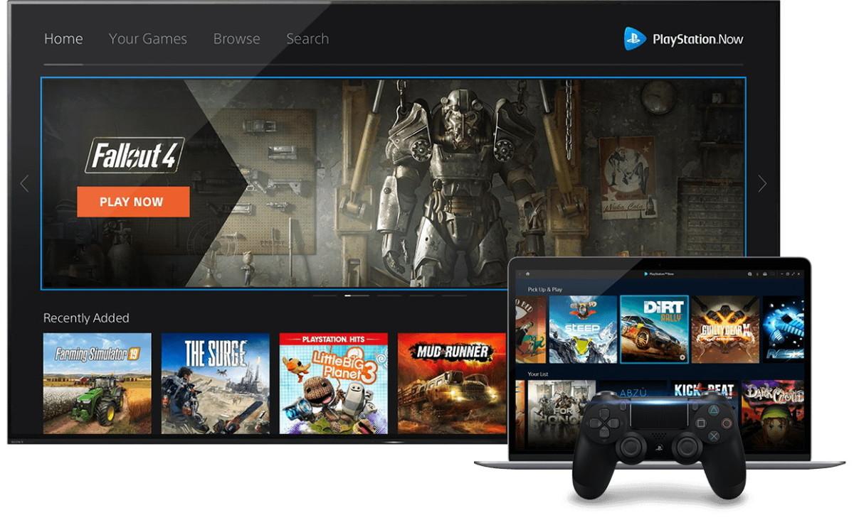 L'interface de PlayStation Now