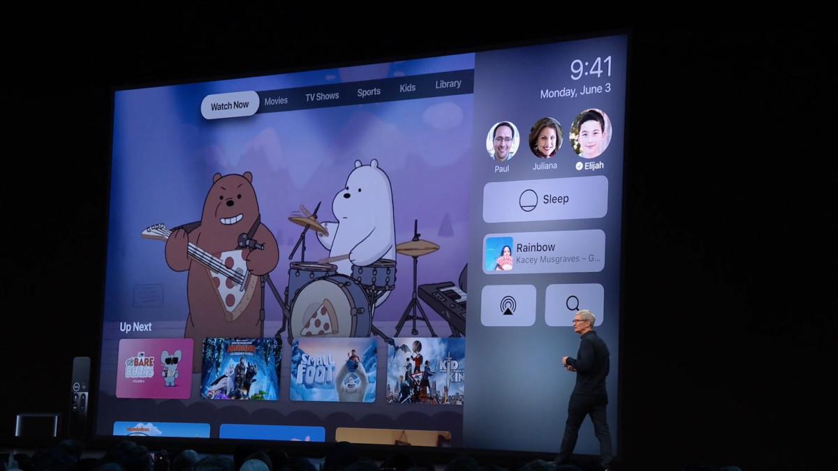 tvOS supporte le multi-compte et les manettes Xbox One S et PS4