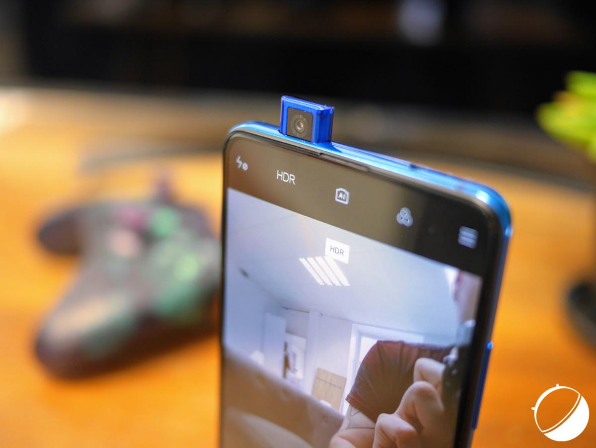 La caméra pop-up du Xiaomi Mi9T