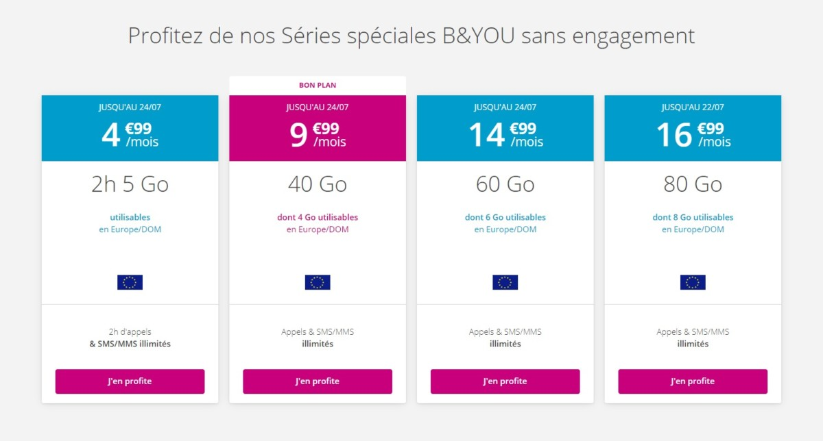 Forfait mobile : profitez des offres Bouygues sans engagement avant la fin