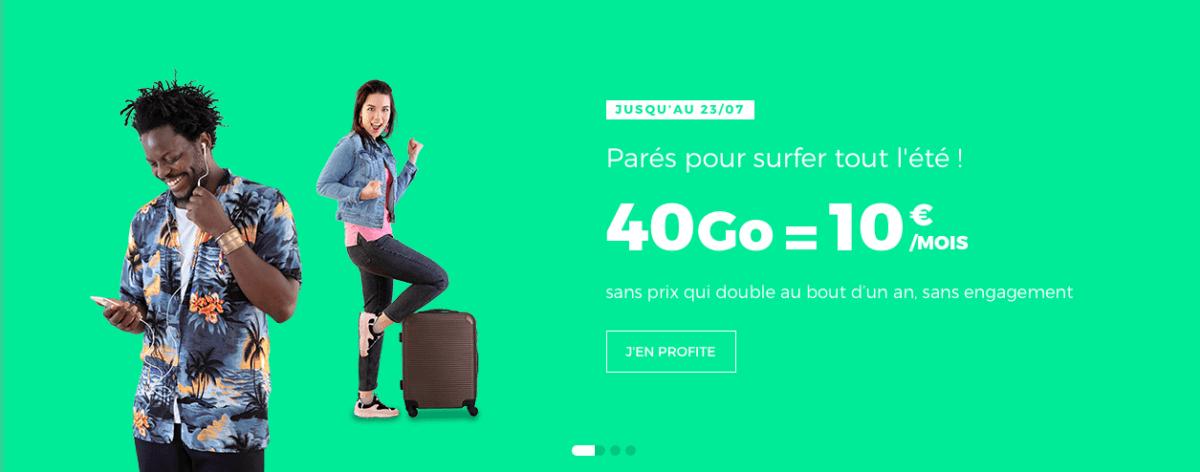 RED by SFR : le forfait 5 Go à 5 euros prolongé et 40 Go pour 10 euros