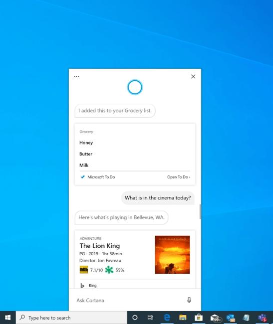 La nouvelle application Cortana