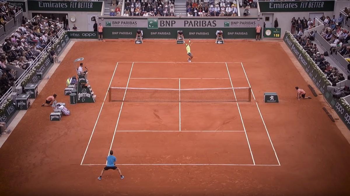 Rafael Nadal s'est imposé face à Dominic Thiem en finale de Roland Garros, édition 2019 (Crédits image : Roland Garros).