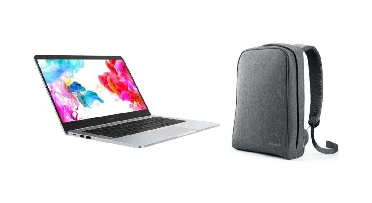 Profitant déjà de 25% de remise, le Huawei Matebook D est livré avec son sac à dos officiel