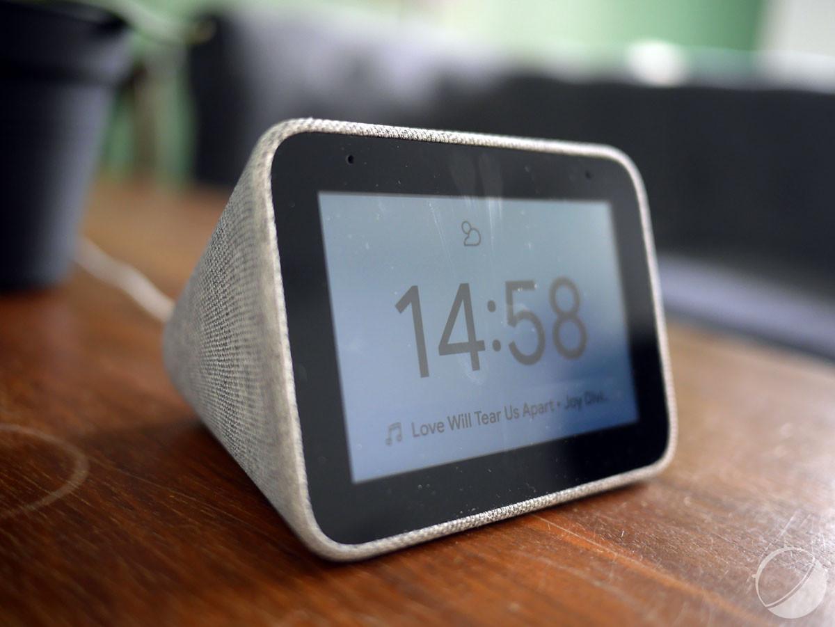 Lenovo Smart Clock, coloris gris chiné