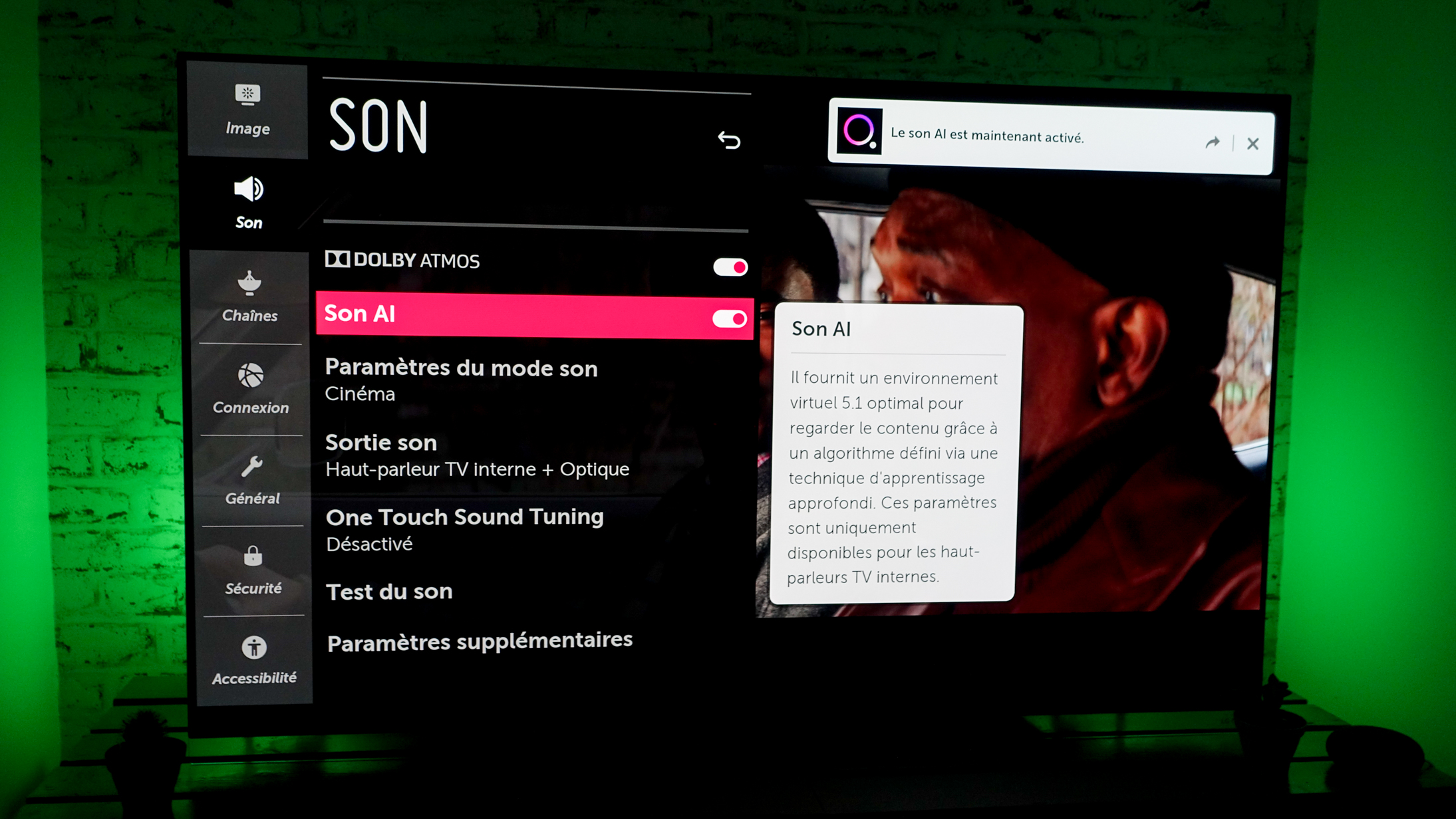 Test du LG OLED55E9 : excellente qualité d'image pour les films… et les jeux vidéo