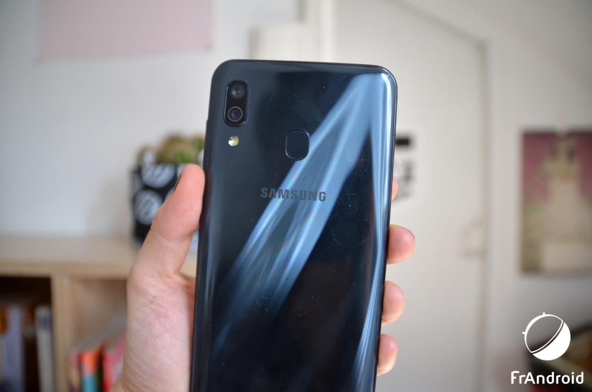 Ici le Samsung Galaxy A30
