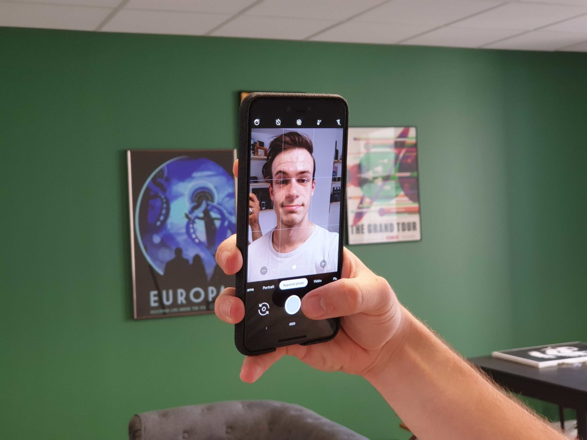 Le Google Pixel 3 en mode selfie