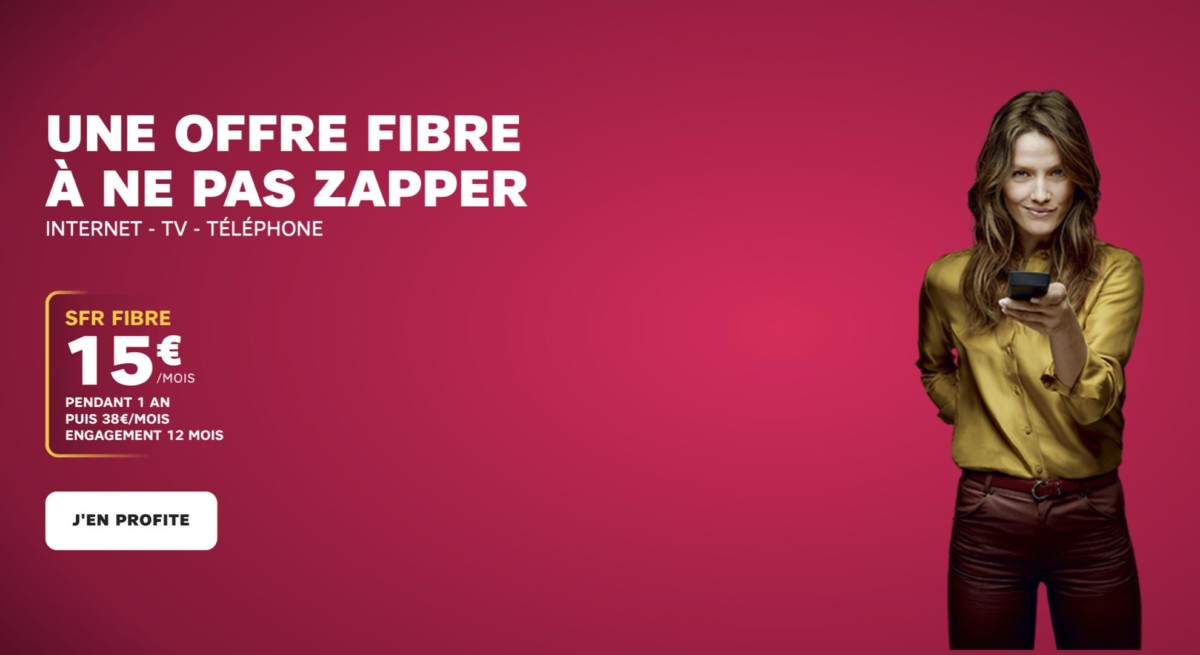 La Fibre à 400 Mb/s à 15 euros par mois : l'entrée de gamme de SFR s'étoffe