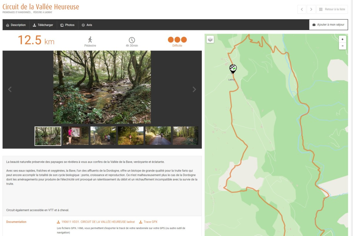La plupart des sites des offices de tourisme affichent désormais les randonnées de leur région, mais proposent désormais quasiment tous des traces GPS.