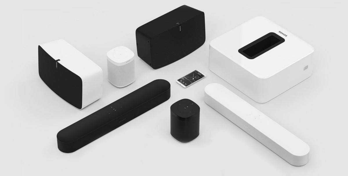 L'écosystème Sonos avec des enceintes et des barres de son