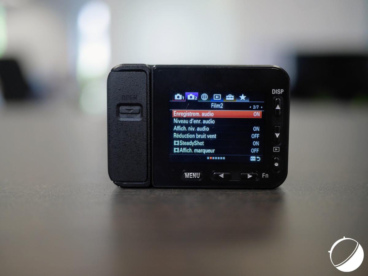 L'interface des menus de la Sony RX0 II