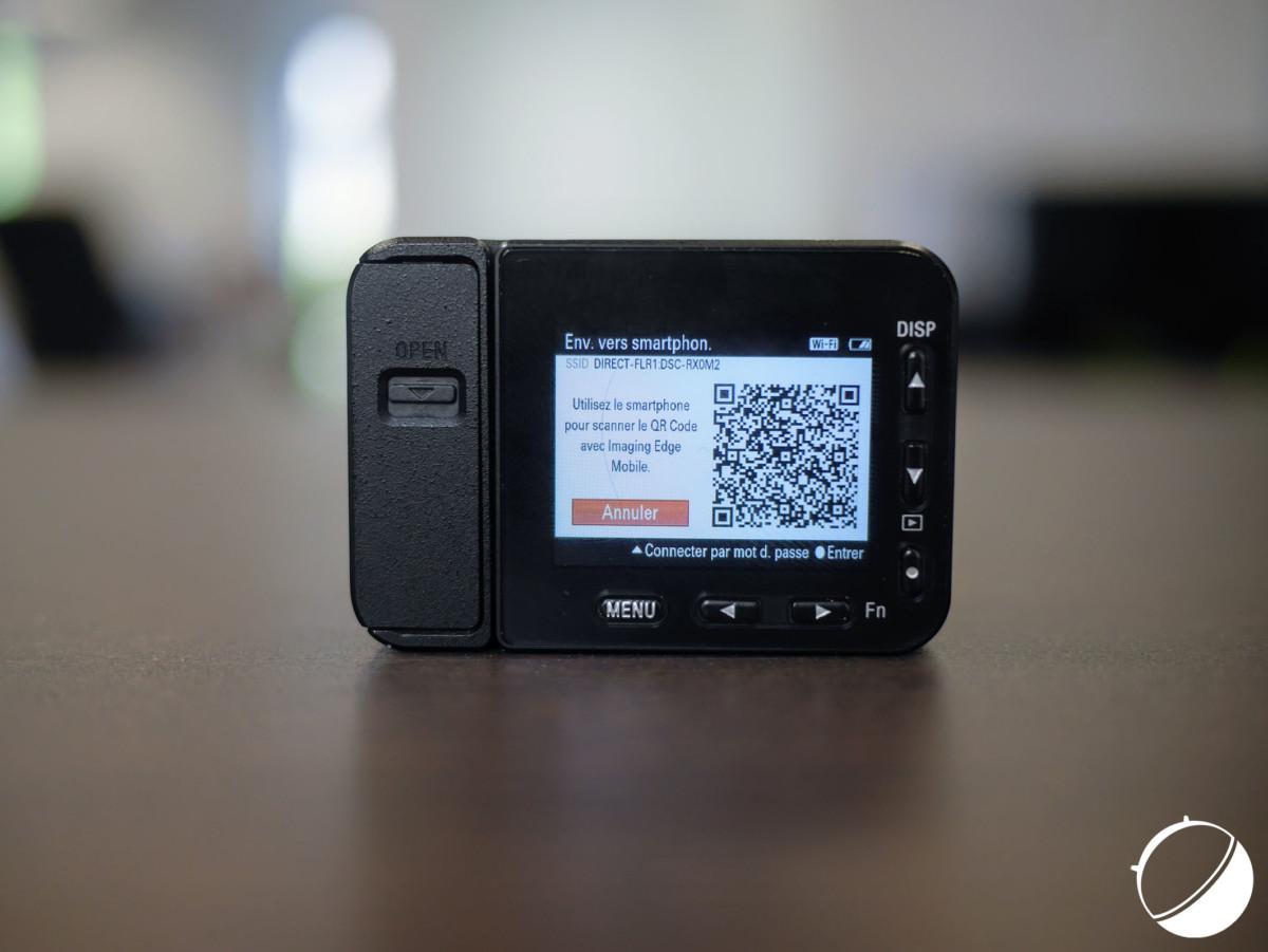 Le QR Code à scanner pour connecter le smartphone à la caméra
