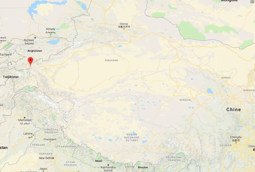 L'emplacement du poste-frontière de Irkeshtan