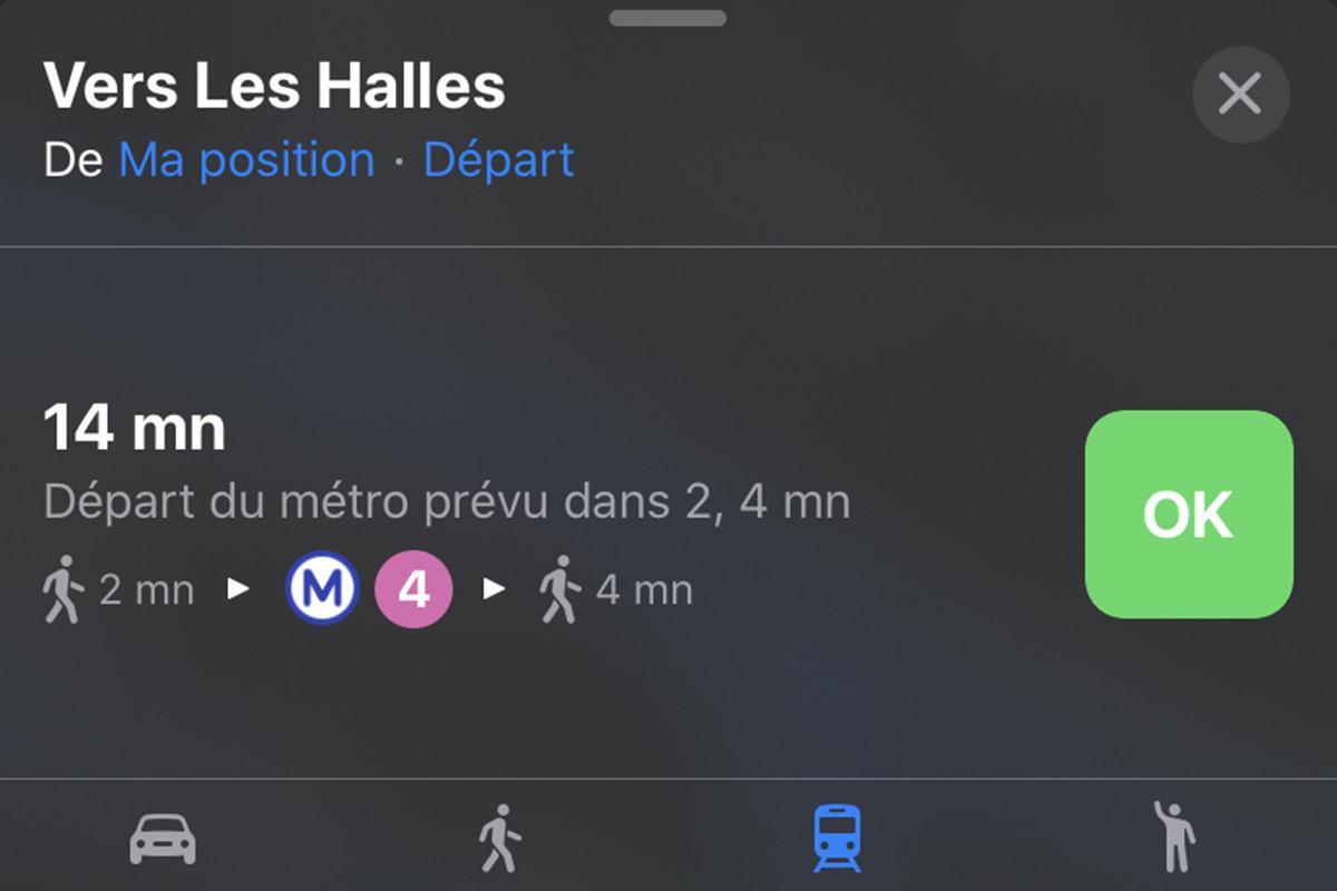 iOS 13 : Apple Plans intègrera les horaires en temps réel des transports en commun