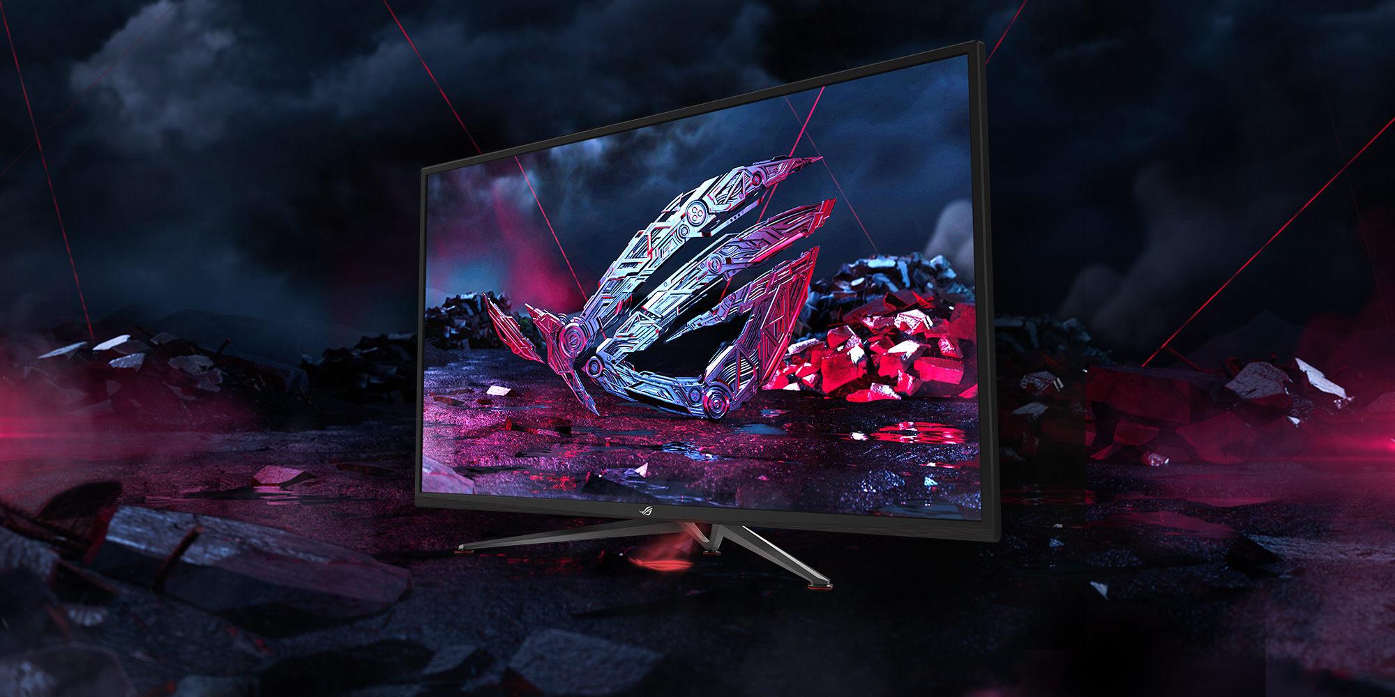 Asus ROG Strix XG438Q : l'énorme écran PC 4K HDR FreeSync 2 pour les gamers