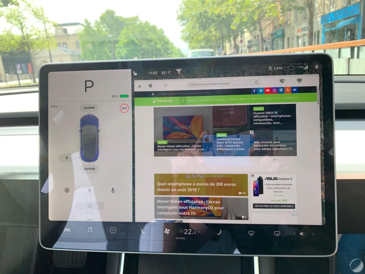 c tesla model 3 frandroid img 0998 1200x900 - O Tesla Mannequin 3 é um objeto tecnológico: descubra sua interface e seus gadgets - FrAndroid