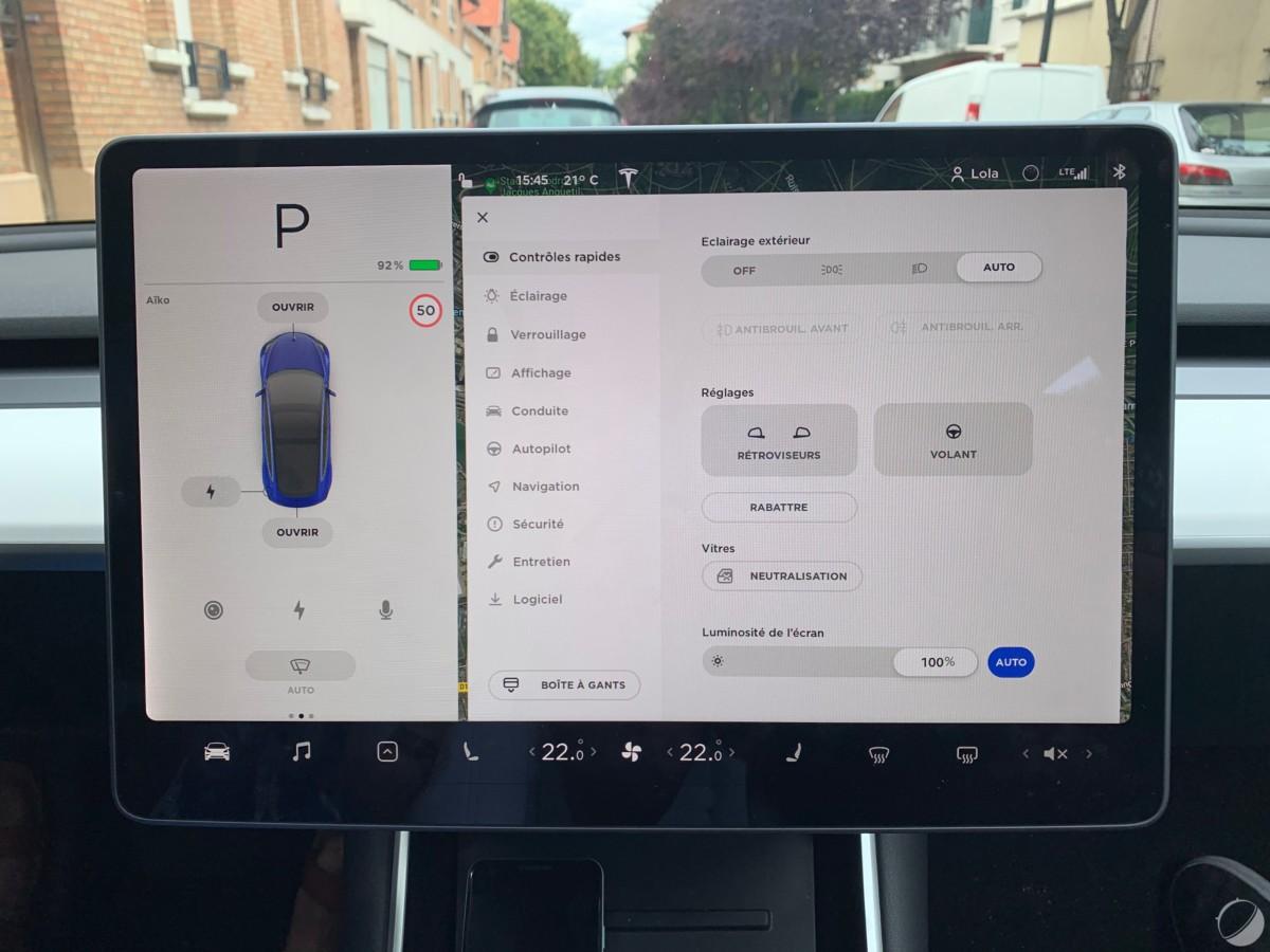 c tesla model 3 frandroid img 1074 1200x900 - O Tesla Mannequin 3 é um objeto tecnológico: descubra sua interface e seus gadgets - FrAndroid