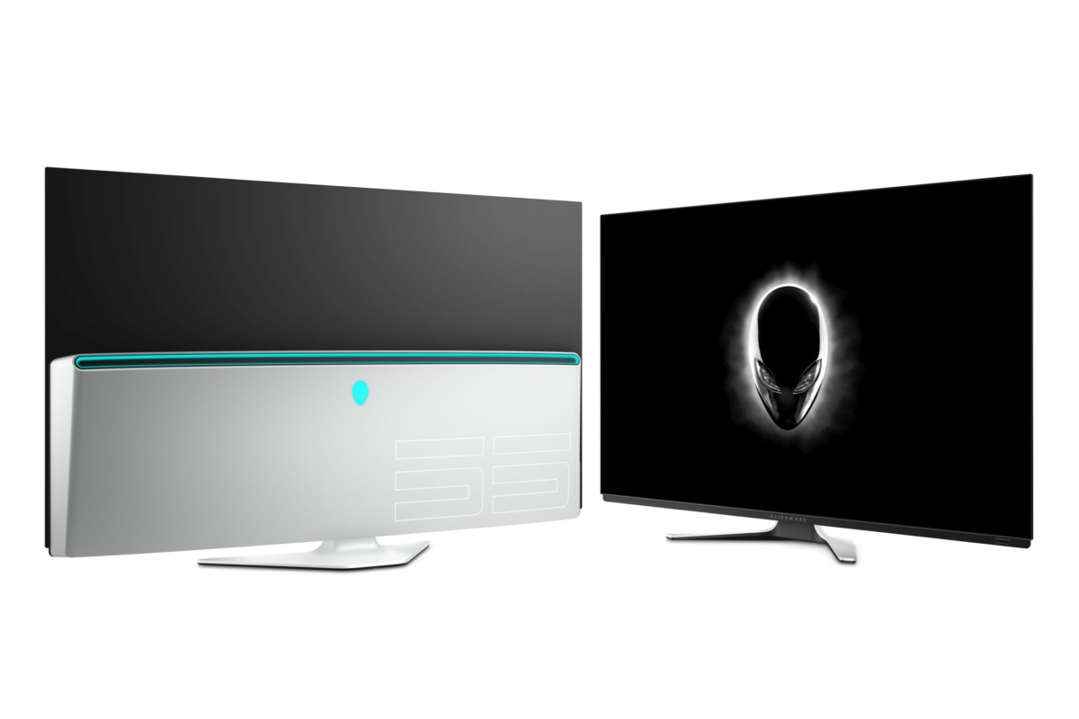 Alienware 55 inch AW5520QF OLED monitor.