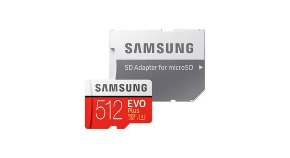 Annoncée à 290 euros, la microSD EVO Plus 512 Go de Samsung passe à 69 euros