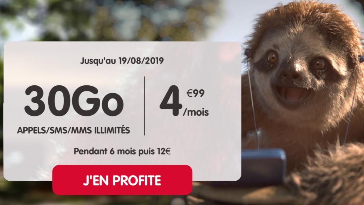 NRJ Mobile : 30 Go pour moins de 5 euros par mois pour commencer